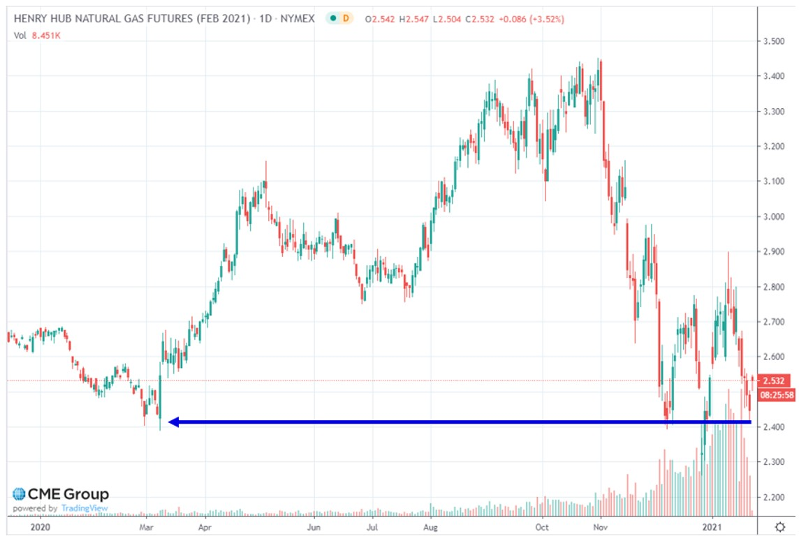 Henry Hub Natural Gas Futures (Feb 2021)