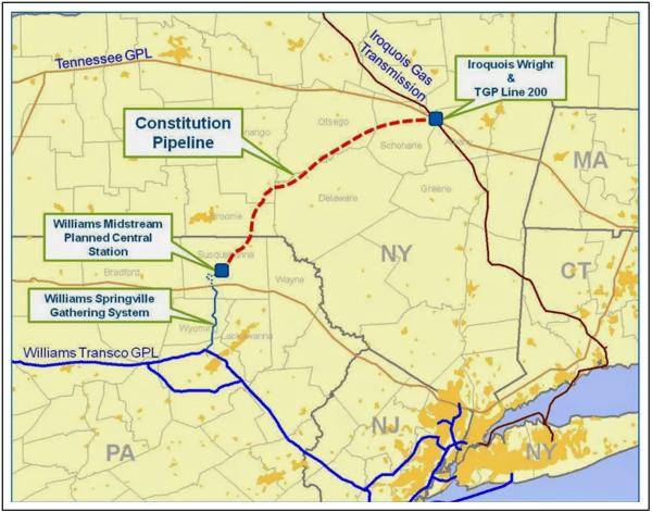 Map of Constitution Pipeline